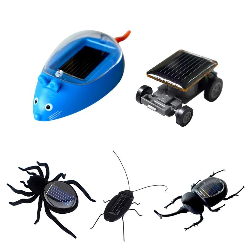 1Pc Solar Energy Vibrates Forward Plastic Simulation Insect Children Kids Toys Novelty Funny Kids Toys No Batteries