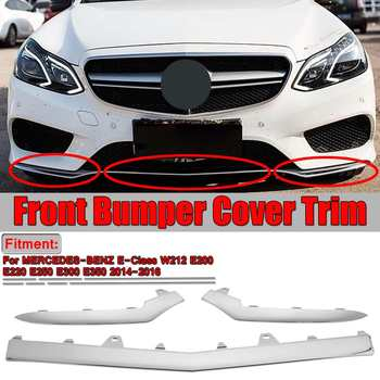 3pcs W212 Car Front Bumper Chrome Grille Cover Trim Molding For Mercedes For Benz E-Class W212 E200 E220 E250 E300 E350 2014-16