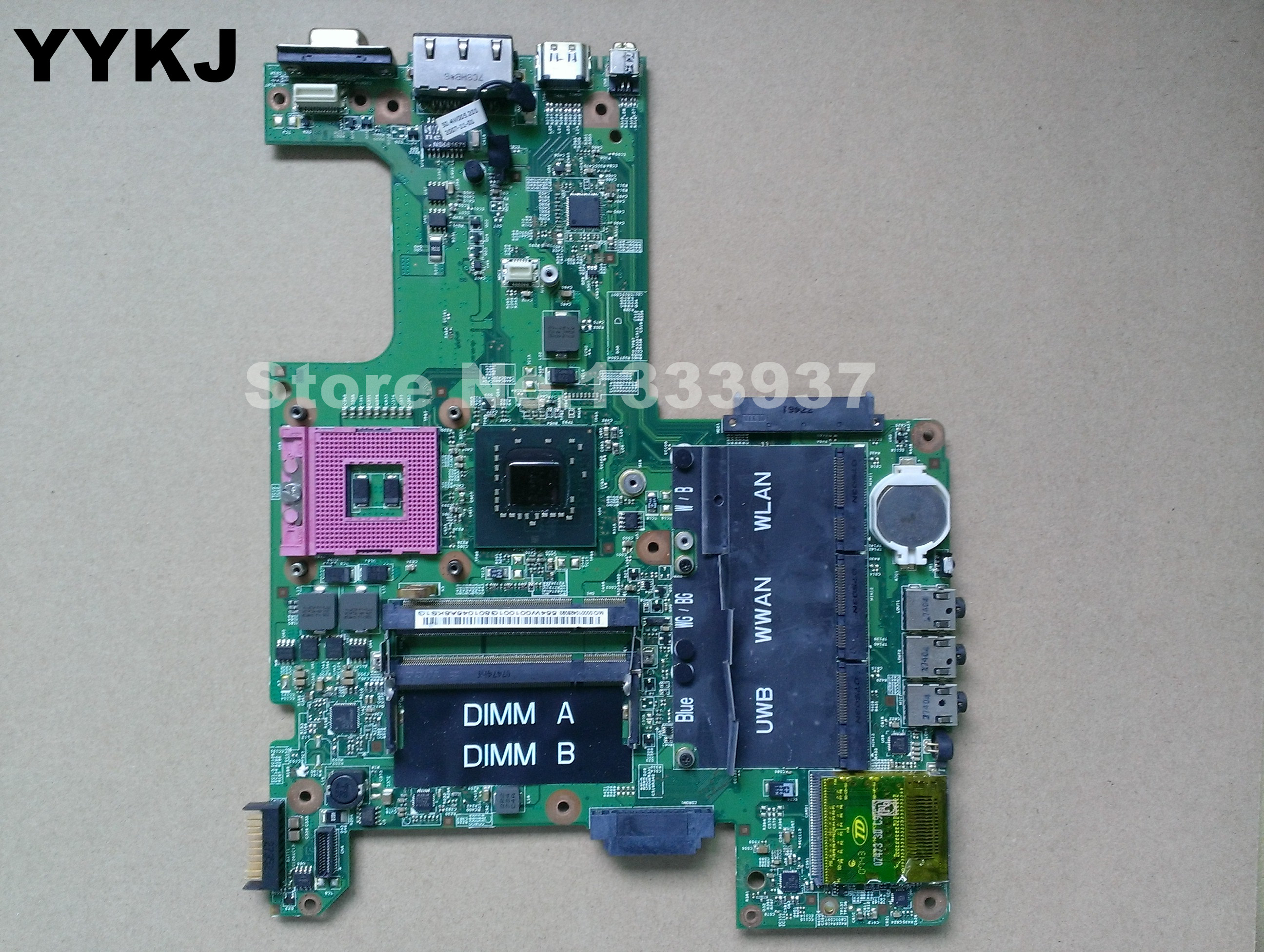 07211-1 CN-0KY749 0KY749 KY749 for Dell Inspiron 1525 Laptop Motherboard Mainboard 48.4W002.011