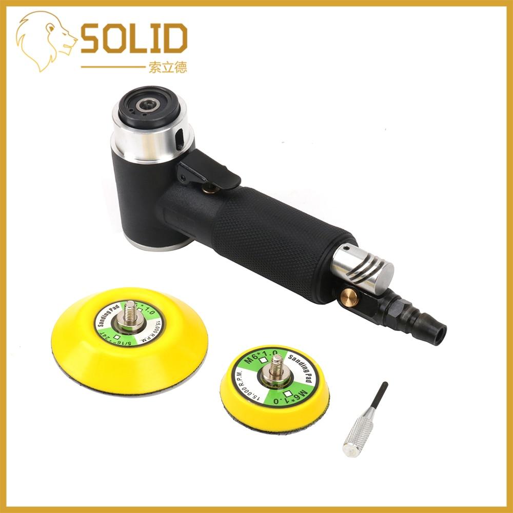 Air Sander Polisher Pneumatic Mini Sander Random Orbital Machine Kit Polishing Grinding Set 2/3inch Disc Auto Beauty Woodworking