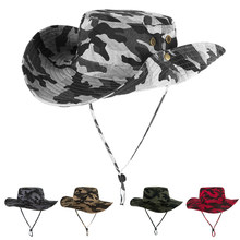 4ac3a74ef76a7 2019 Breathable Fishing Caps Outdoor Sun Cap Boonie Hat Wide Brim Hunting  Sun Hat other outdoor activities Carp Fishing