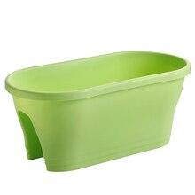 Плантатор Пластиковые плантаторы для дома и офиса садовый балкон(зеленый