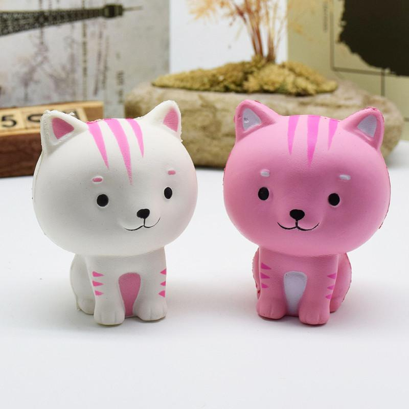 None Cat Squishy Slow Rising Phone Straps Cute Kitten Soft Squeeze Bread Charms Scented Kids Toy