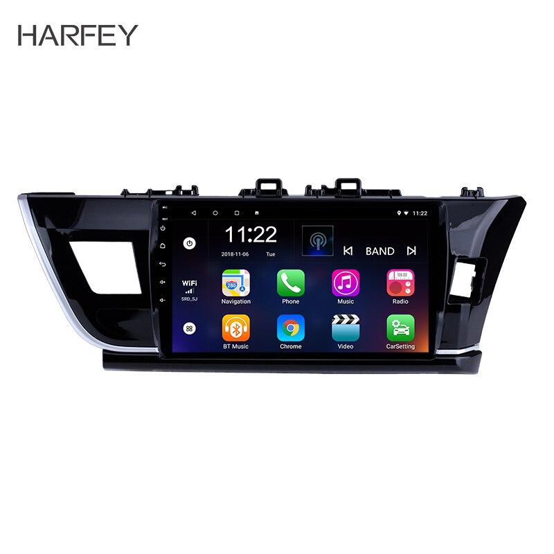Harfey Android 8 1 10 1 Radio GPS Navigation For 2014 Toyota Corolla RHD Bluetooth Support