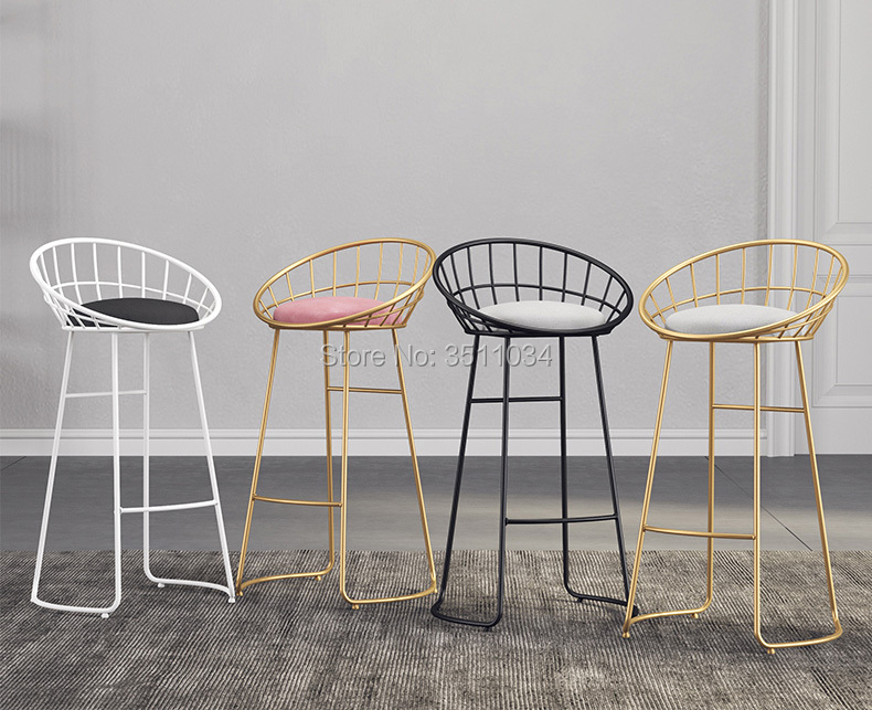 Super Us 117 5 6 Off Nordic Minimalist Bar Chair 65Cm 70Cm 75Cm Iron Chair Golden Stool Modern Dining Chair Wire Chair In Bar Stools From Furniture On Download Free Architecture Designs Rallybritishbridgeorg