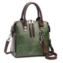 Vintage Pu Leather Ladies Handbags Women Messenger Bags Totestassel Designer Cro