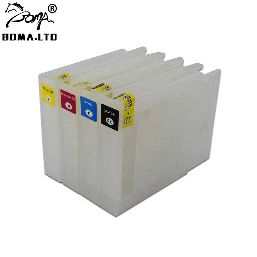 Europe T9071 - T9074 T9081 T9084 Refillable Ink Cartridge For Epson WF-6590 WF6590 WF-6090 WF6090 Printer With One times Chip