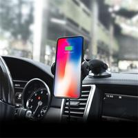 Automatic Car Wireless Charger Magnetic Phone Holder For IPhone XS Samsung Wireless Charging Car Mount Mobile Phone Holder Stand