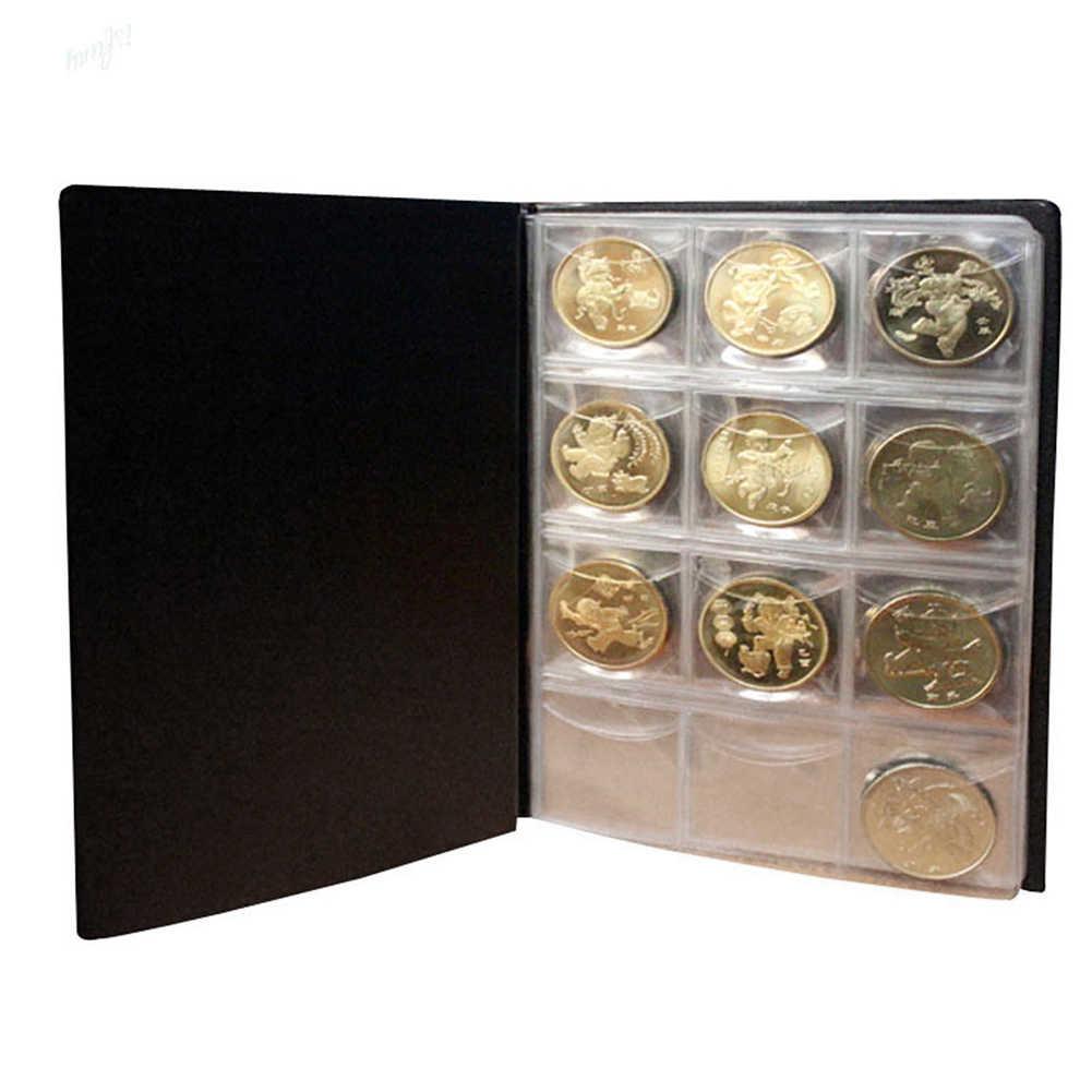 10 страниц 120 альбом с карманами для коллекция монет фотография Книги Альбом Сбор денег, органайзер, сумка для хранения Держатели