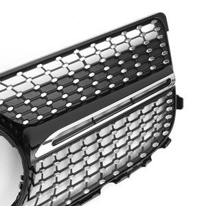 Image 5 - Nero/Cromo X204 Diamante Auto Griglia Paraurti Anteriore Griglia Della Griglia Per Mercedes Per Il Benz GLK X204 GLK250 GLK300 GLK350 2013 2015