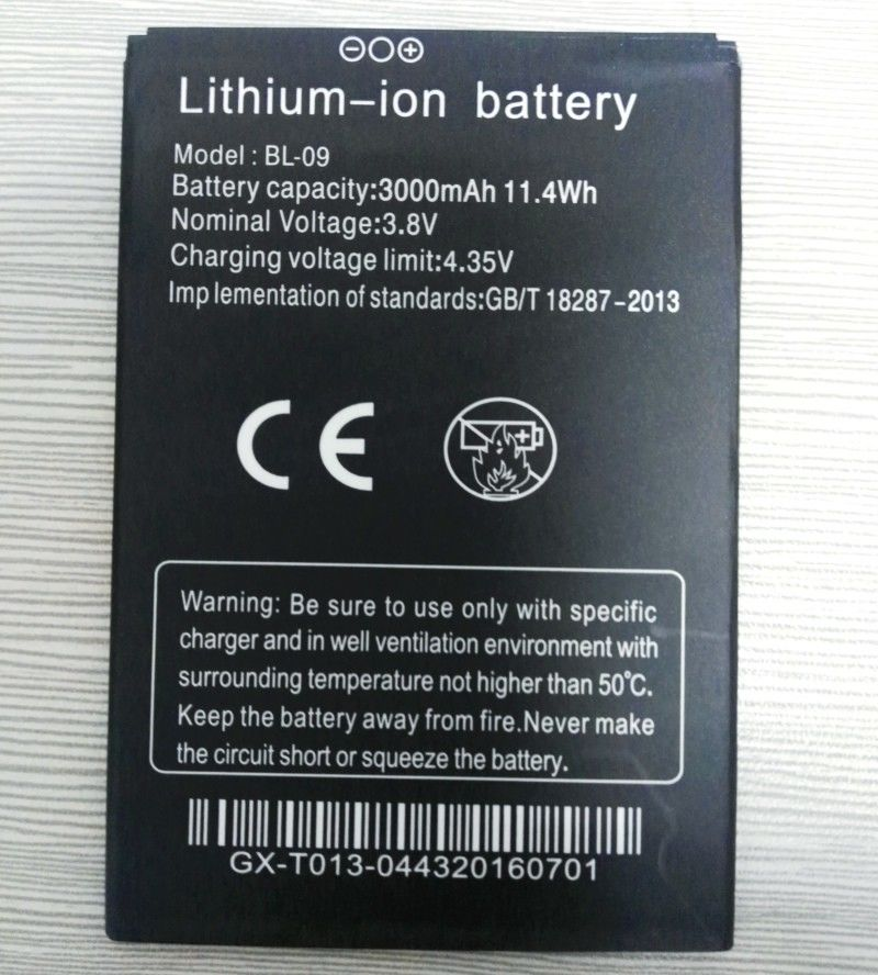 QSMHYM Brand New <font><b>BL</b></font>-09 BL09 3000mAh 3.8V 11.4Wh Battery For THL <font><b>T9</b></font> Pro CellPhoneWith Tracking Number image