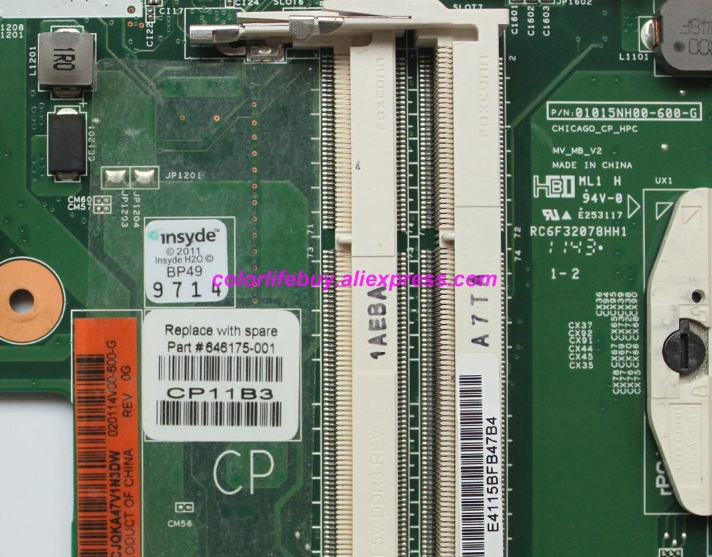Image 3 - Genuine 646175 001 01015EC00 600 G HM55 DDR3 Laptop Motherboard Mainboard for HP 2000 CQ43 Series NoteBook PC-in Laptop Motherboard from Computer & Office