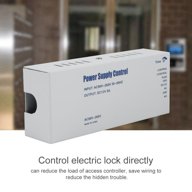 Access Control Dc12v 5a Door Access Control System Switch Power Supply For Rfid Fingerprint Access Control Device High Quality Promoting Health And Curing Diseases Access Control Accessories