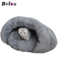 BOLUX Dog House Medium Dog Bed Cat Bed Cave Cotton Padded Warm Winter Pet Bed Puppy Mats Two Colors Kitten Cushions Supplies