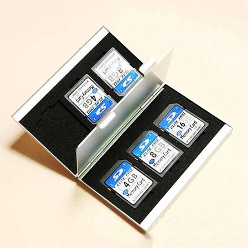 Aluminium Alloy Micro For SD MMC TF Memory Card Storage Box Protecter Case Drop Shipping