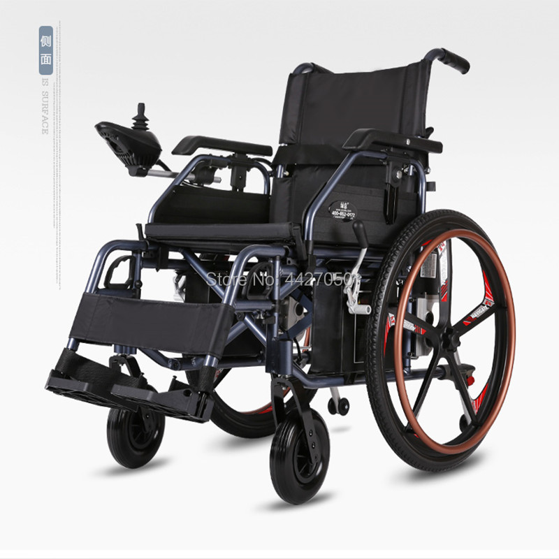 2019 hot sell folding electric power wheelchair with blushless motor