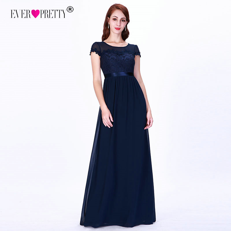 Navy Blue Dress Elegant Mother Of The Bride Dresses A Line O Neck Short Sleeve Appliques Lace Formal Party Gowns Robe De Soiree