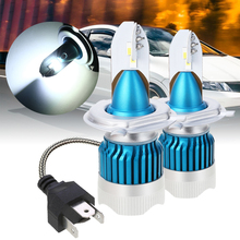Car Head Lamp 2pcs H4 60W LED Headlight Bulb 6500K 3000lm Waterproof Auto Mini Headlamp