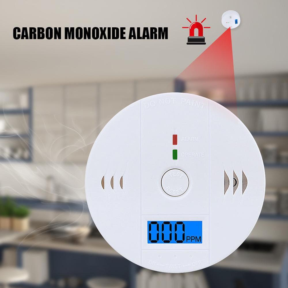 LCD CO Sensor Warning Alarm Detector Work Alone Siren Sound Independent Carbon Monoxide Poisoning Warning Alarm Detector