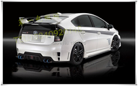 MONTFORD Car Styling ABS Plastic Material Unpainted Color Rear Trunk Boot Wing Rear Lip Roof Spoiler For Toyota Prius 2009 2014