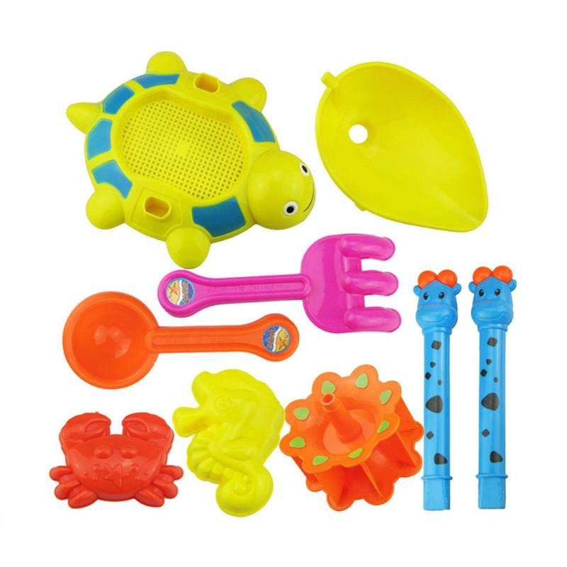 Bright 1/5/10pcs/set Summer Beach Sand Water Play Toys Sand Play Toys Kids Seaside Bucket Shovel Tools Random Color Seaside Playing Toy Colours Are Striking Beach/sand Toys