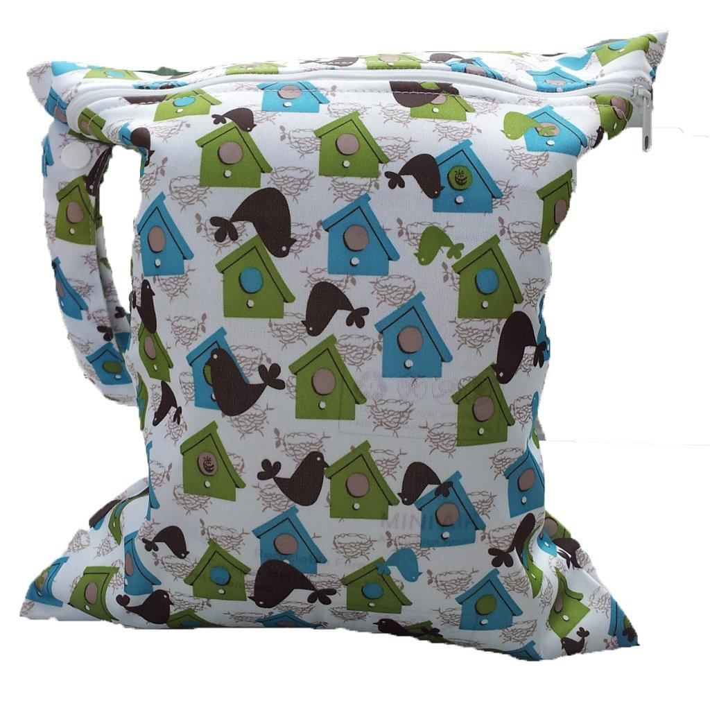 Baby Infant Waterproof Zipper Reusable Cloth Diaper Bag