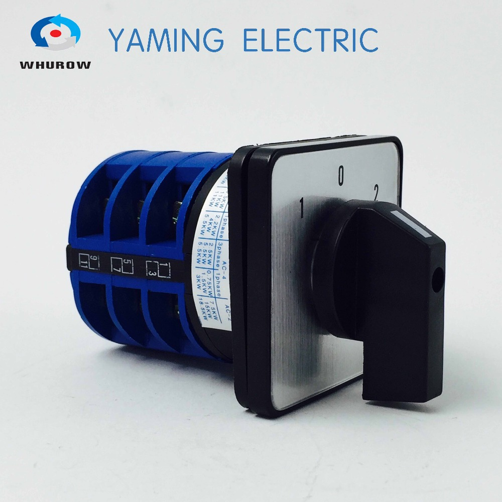 Free shipping 1pcs Rotary switch 3 position 660V 32A 3 phases electrical changeover cam switch YMW26-32/3