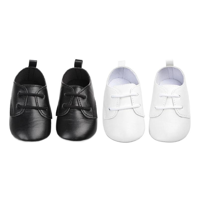 Baby Shoes Toddler Newborn Soft Sole First Walker Shoes Baby PU Leather Lace Up Sneakers Prewalkers