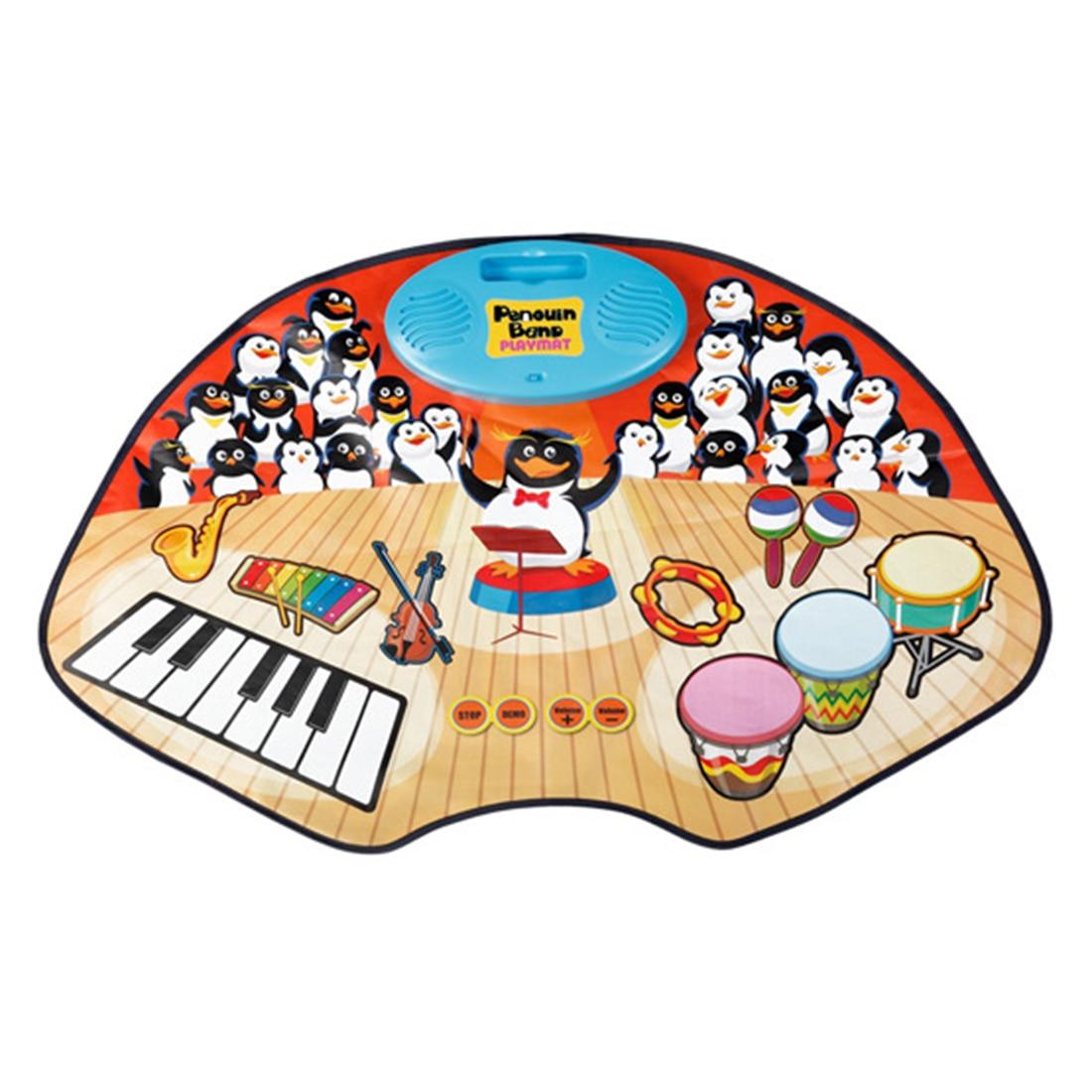 2019 offre spéciale bébé tapis de jeu enfants développement pingouin bande tapis de jeu de musique tapis de jeu jouets éducatifs pour enfants enfants cadeaux