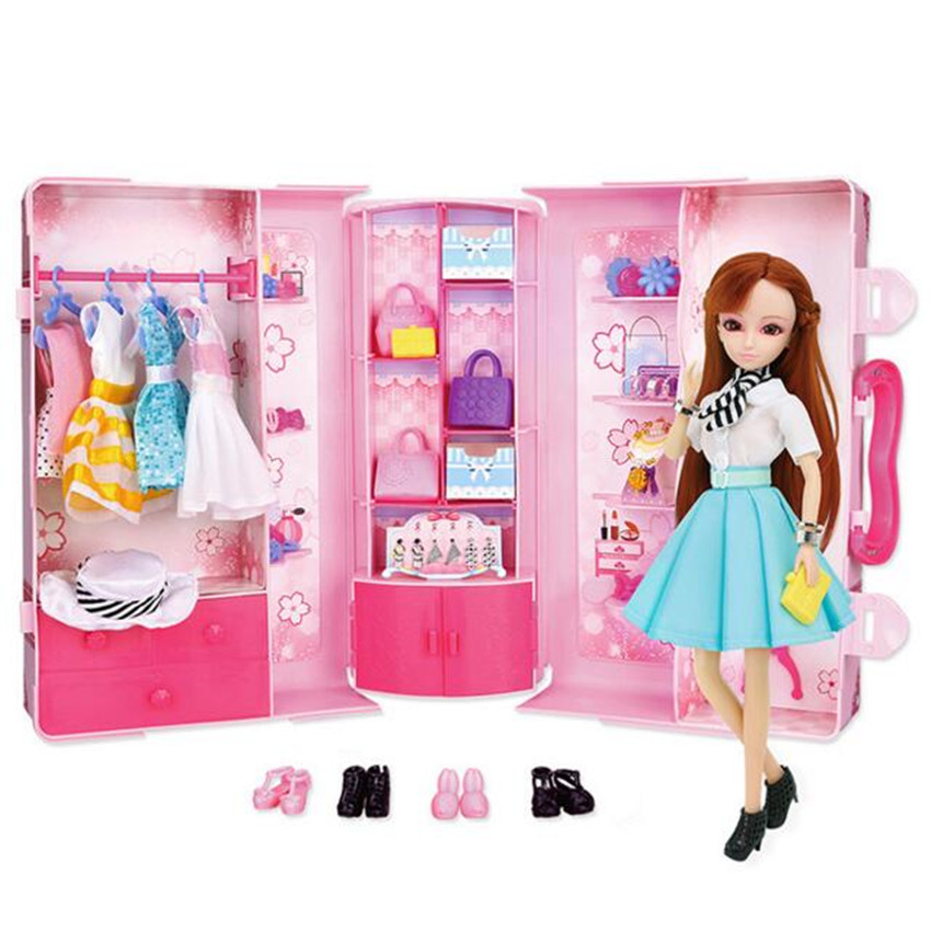 1PCS Fashion Dressup Dolls Set Best Christmas Birthday Gifts For Girls Party Princess Dress For Doll Kid Toys