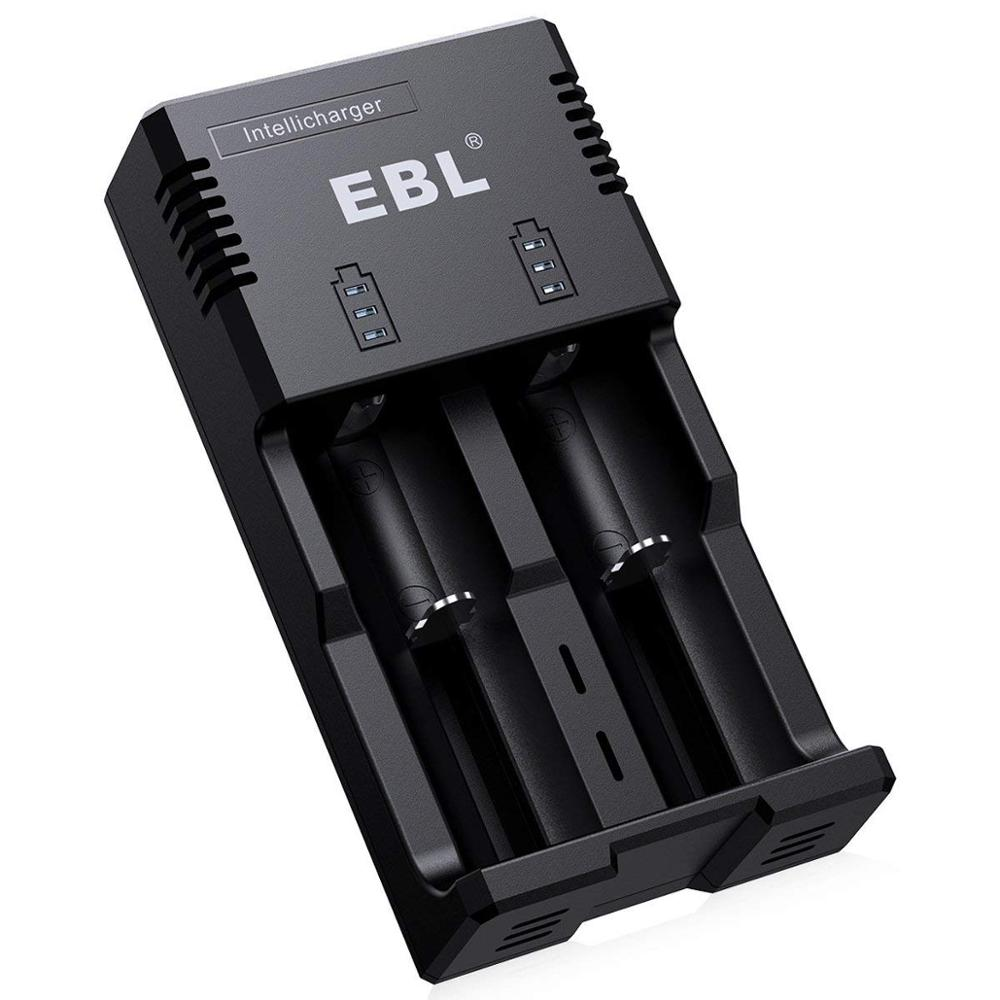 EBL Battery Charger for Li-ion/Ni-MH/Ni-Cd 26650 18650 18490 17500 17335 16340 RCR123 14500 10440 AA AAA Universal Charger