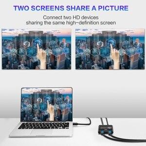 Image 3 - مقسم الوصلات البينية متعددة الوسائط وعالية الوضوح (HDMI) 2.0 4K @ 60Hz الجلاد 1X2 HDR 4K كامل HD فيديو HDMI إلى HDMI التبديل محول 1 في 2 خارج مكبر للصوت للتلفزيون DVD PS3 Xbox