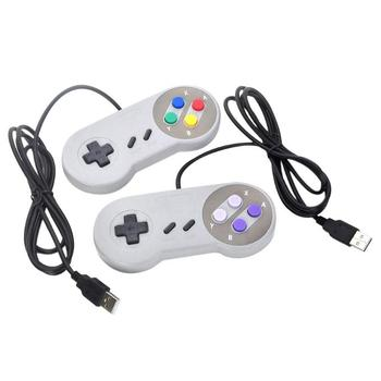1Pc USB Wired Game Controller USB Gaming Gamepad Game Pad PC/Laptop Joypad for Nintendo SNES for MAC Joystick Game Accessories image