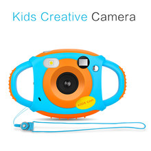 Anti-fall HD Color Image Camera Lanyard Cartoon Kids Children Video Toy Gift Digital Camera(China)