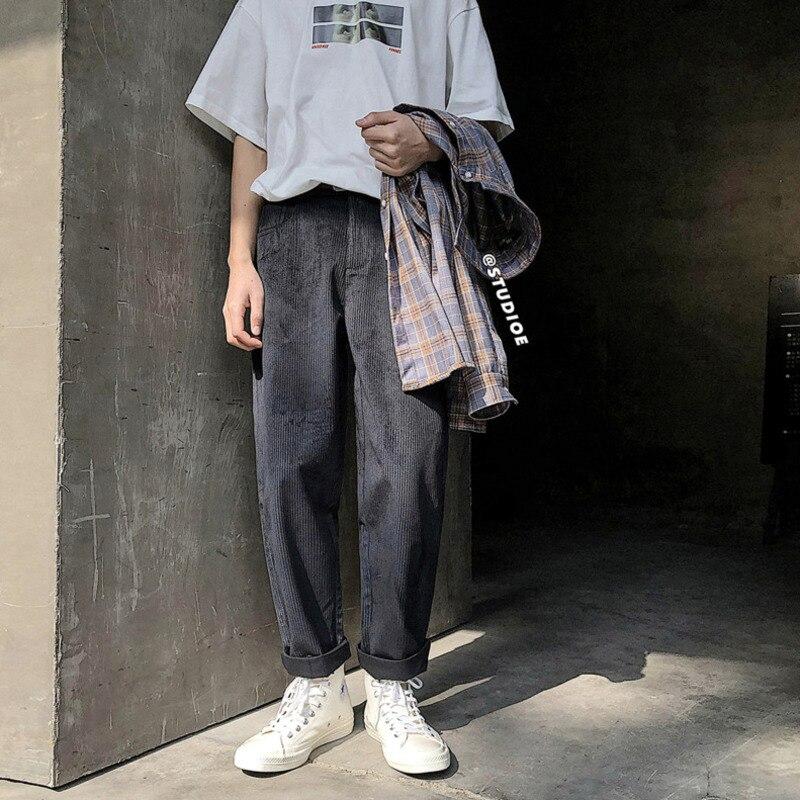 Spring Pantalon Décontracté Tendance Droite Collège Populaire black Vent Couleur Personnalité New Solide Jeunesse gray Hommes De Apricot Sport Japonais 2019 Partie pxS50F