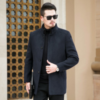 Big 8XL 7XL 6XL 2 in 1 Winter Men Coat Fashion Brand Clothing Fleece Lined Thick Warm Woolen Overcoat Male Wool Blend Men's Coat