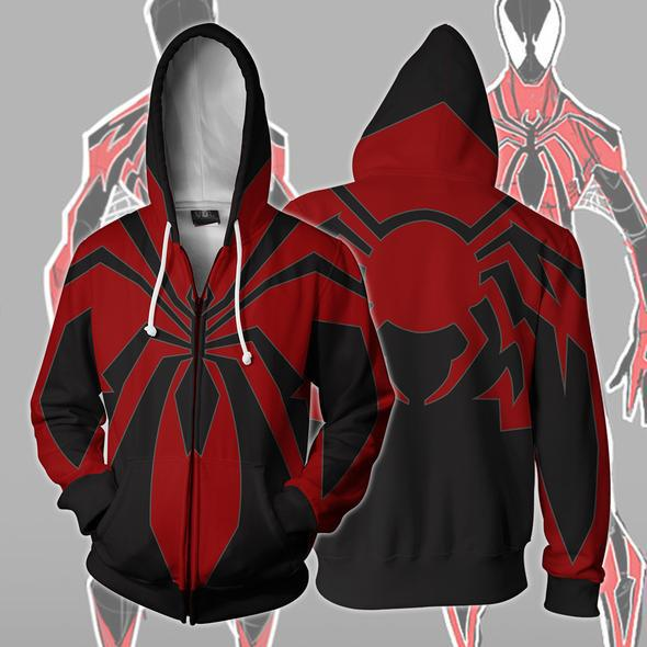 Fashion hoodies Spiderman 3d print zip Hoodies Streetwear Casual Cospaly Sweatshirt Plus Size 5xl