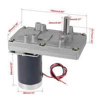 ZGB102FEE 24V 12V DC 70 RPM 10RPM 30RPM 20RPM Gear Motor High Torque Electric Reduction Gearbox Eccentric Output Shaft