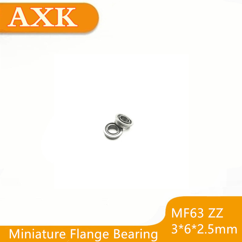 Metal Shielded FLANGED Ball Bearing Bearings MF63z 3x6x2.5 mm 10PCS MF63ZZ