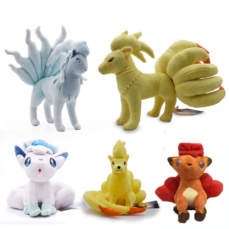 5 Styles Anime Ice Alola Vulpix Ninetales Stuffed Peluche Plush Toys Japanese Dolls Christmas Gift For Children 17 Cm -25 Cm