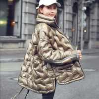 Neue Winter Brot Service Licht Plus Größe Unten Jacke Frauen Kurzen Absatz Lose Mode Mantel Jacke Weibliche Gerade Oberbekleidung