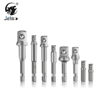 JelBo Screwdriver Extension Rod Drill Bit Set Socket Adapter Hex Nut Driver Power Shank 1/4 3/8 1/2 Connect Rod Head Wrench Tool 23mm hexagon magnetic 3 4 sleeve socket head screwdriver tapping drill chrome molybdenum steel connector rod head