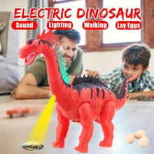 Electronic Toys Electronic Pets Electric Double-headed Dinosaur Will Lay Eggs To Simulate Artificial Egg Dinosaur Model Childrens Toys Exquisite Gifts