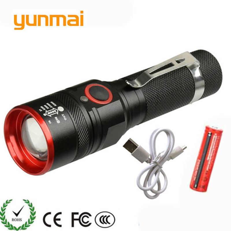 3800 lumen Taschenlampe USB Aufladbare T6 LED Taschenlampe Lampe Laterne 18650 Wasserdichte LED Fahrrad-Licht camping
