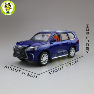 Image 2 - 1/32 JACKIEKIM LX570 SUV Diecast Model CAR Toys for kids Sound Lighting Pull Back Car Boy Girl gifts