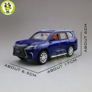 Image 2 - JACKIEKIM modelo de coche fundido a presión LX570 SUV, juguetes para niños, iluminación de sonido, coche extraíble, regalos para chico y Chica, 1/32