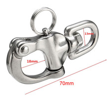 316 Stainless Steel Swivel Shackle Quick Release Boat Anchor Chain Eye Shackle Swivel Snap Hook for Marine Boat Yacht Hardware