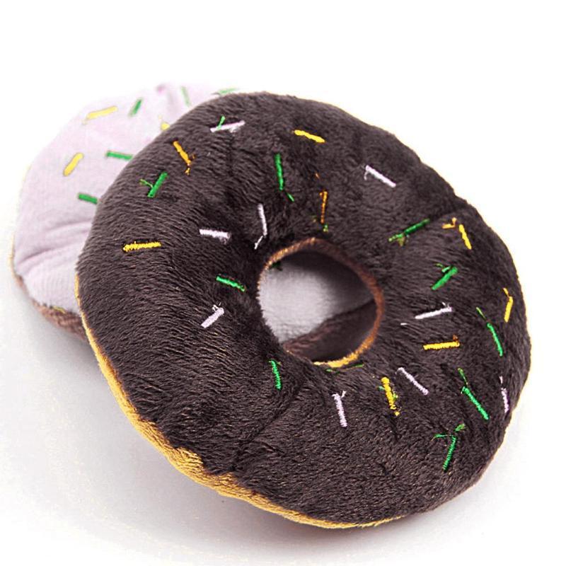 Funny font b Pet b font Chew Throw Speelgoed Huisdier Producten Leuke Donuts Puppy Kat Piepend