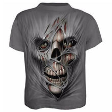 Men Summer Gym Outdoor T-Shirt Quick Dry Running Fitness Tops Fashion 3D Printed T-shirt Casual Short sleeve Tshirt Skull