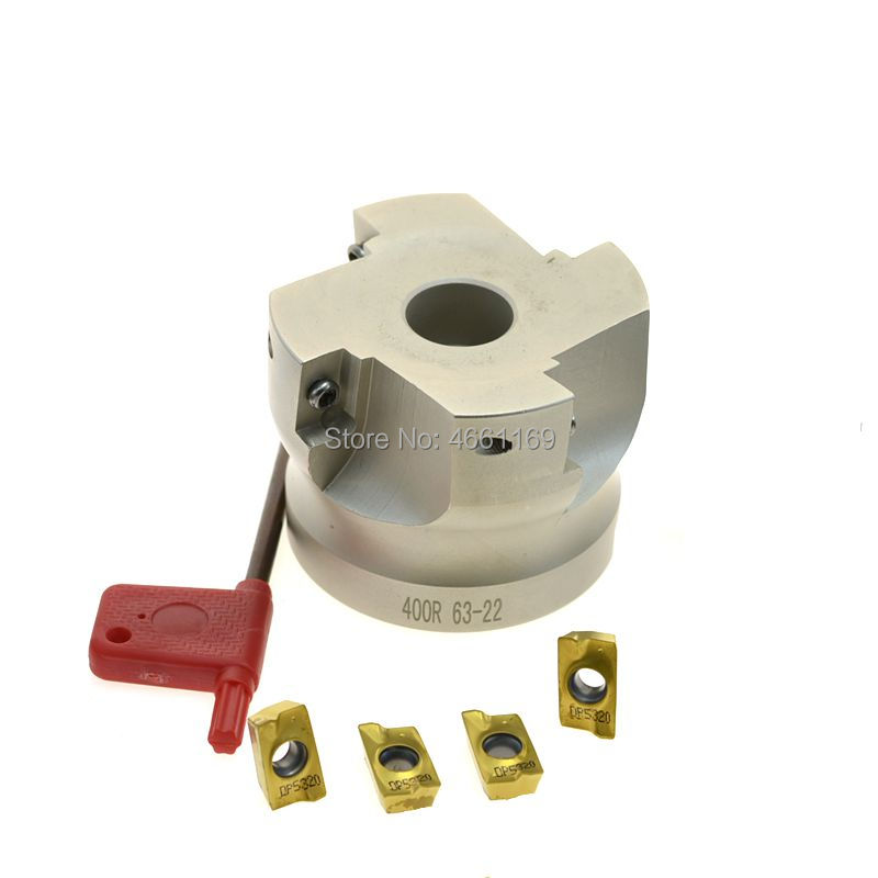 BAP400R 50 63  right angle shoulder face mill cutter, 4pcs inserts are fitted on the cutter